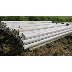Multiple Bundles of White PVC Pipes, Multiple Bundles, 20'1 , 7.5  Dia, Approx. Qty 45