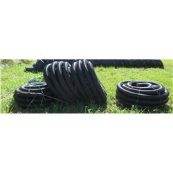 4 Coils Black Plastic Hose (unused, never installed, was initially for water troughs)