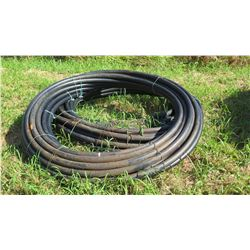 2 Coils Black Plastic Hose (unused, never installed, was initially for water troughs)
