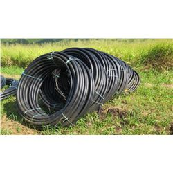5 Coils Black Plastic Hose (unused, never installed, was initially for water troughs)