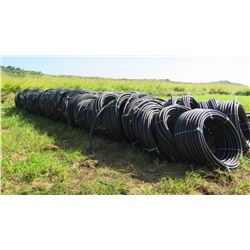 Approx. 24 Coils Black Plastic Hose (unused, never installed, was initially for water troughs)