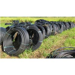 Approx. 21 Coils Black Plastic Hose (unused, never installed, was initially for water troughs)