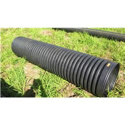"Qty 1 Black Culvert Pipe 10'7"" Length, 24"" Dia."