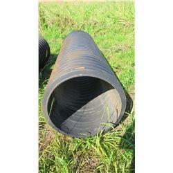 Qty 1 Black Culvert Pipe 9'6  Length, 30  Dia.
