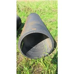 "Qty 1 Black Culvert Pipe 9'6"" Length, 30"" Dia."