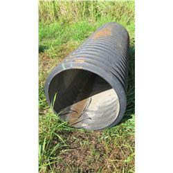 """Qty 1 Black Culvert Pipe 8'7"""" Length, 30"""" Dia."""
