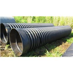 Qty 2 Black Culvert Pipes 16' Length, 36  Dia.