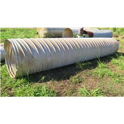"Qty 1 Metal Culvert Pipe 20' Length, 41"" Dia."
