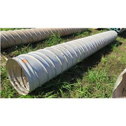 Qty 1 Metal Culvert Pipe 20  Length, 24  Dia.
