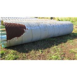 "Qty 1 Culvert Metal Pipe 19'7"" Length, 54"" Dia."