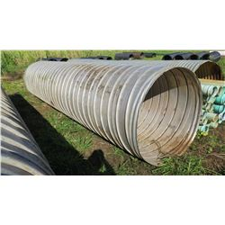 "Qty 1 Culvert Metal Pipe 19'11"" Length, 54"" Dia."