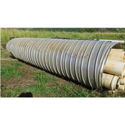Qty 1 Culvert Metal Pipe 19'7  Length, 54  Dia. (has hole on one side, see pictures)
