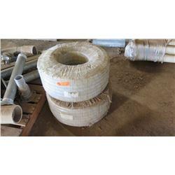 Qty 2 Spools (50-Meters Each) Non-Toxic PVC Barn Hose 25mmx32mm