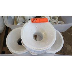 """Qty 3 PVC Reducers - 6"""" to 3"""""""