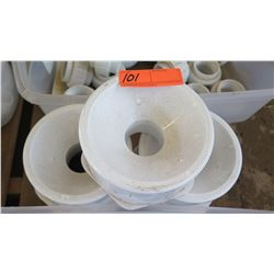 "Qty 3 PVC Reducers - 6"" to 3"""