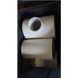 Qty 2 PVC T-Fitting, Large