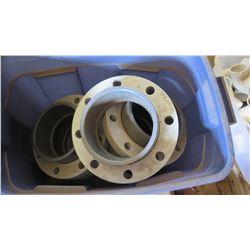 Contents of Tub: 8  Metal Flanges/Connectors