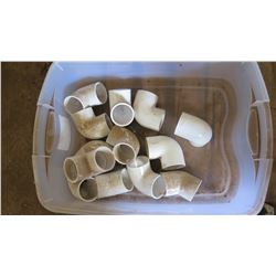 """Contents of Tub: Spears 2"""" Elbow Fittings, Approx. Qty 13"""