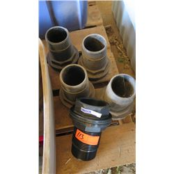Qty 5 Hansen SFTFT80 Tank Fittings