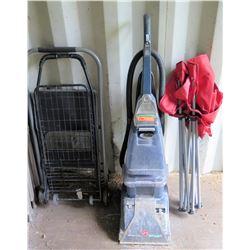 Folding Cart, Chair, Vacuum Cleaner