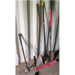 2 Shovels, 1 Pick, 1 Broom
