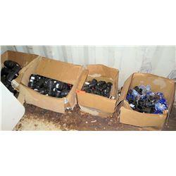 4 Boxes Black PVC Fittings