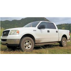 2005 Ford F150 Pickup Truck, 121,303 Miles (runs and drives, check engine light on, see video)