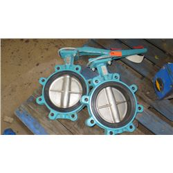 Qty 2 Heaton VF-733 Butterfly Valves, Unused