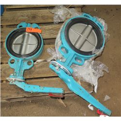 Qty 2 Butterfly Valves, Unused