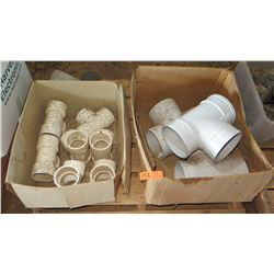 Contents of Pallet: Misc. Large PVC Fittings, Approx. Qty 10