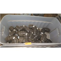Contents of Tub: Misc. Black PVC Fittings