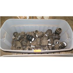 Contents of Tub: Plastic PVC Fittings for Water Trough Lines