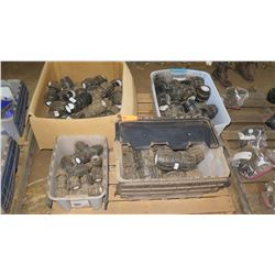 Contents of Pallet: Approx. 3 Plastic Containers & 1 Box of Misc. Fittings