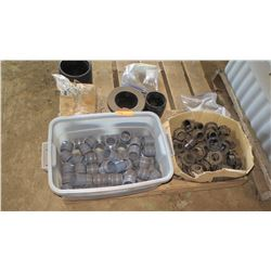 Contents of Pallet: PVC Fittings, Couplers, Black Plastic Fittings, etc.