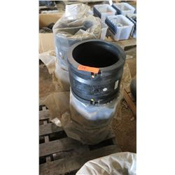 Qty 5 Large Connectors for PVC And HDPE pipe
