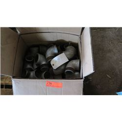 Box of Metal Elbow Fittings