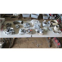 Misc. Metal Fittings & Hardware: Nuts, Elbows, etc.