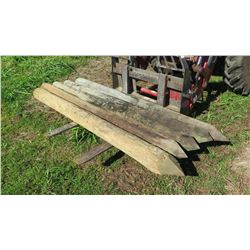 """""""Large"""" Pointed Wooden Fence Posts, Approx. 20 (8' L, 8"""" to 9"""" Dia.)"""
