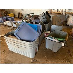 15 Large Plastic Tubs/Bins