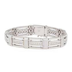 1.35 ctw Diamond Bracelet - 14KT White Gold