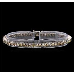 14KT White Gold 6.83 ctw Diamond Tennis Bracelet