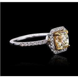 14KT White Gold 1.53 ctw SI-1/U-V Diamond Ring