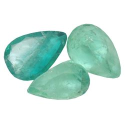 4.87 ctw Pear Mixed Emerald Parcel