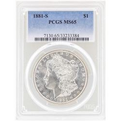1881-S $1 Morgan Silver Dollar Coin PCGS MS65