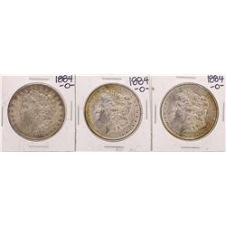 Lot of (3) 1884-O $1 Morgan Silver Dollar Coins