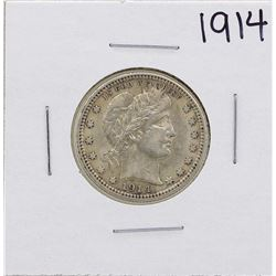 1914 Barber Head Quarter Coin