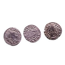 Lot of (3) 1540-1590 KB Hungary Ferdinand I - Madonna & Child Silver Denar Coins