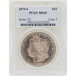 1879-S $1 Morgan Silver Dollar Coin PCGS MS65