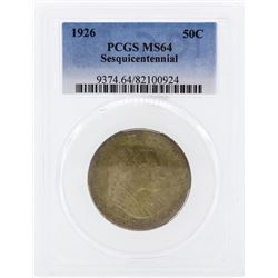 1926 Sesquicentennial Commemorative Half Dollar PCGS MS64