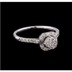 0.52 ctw Diamond Ring - 14KT White Gold
